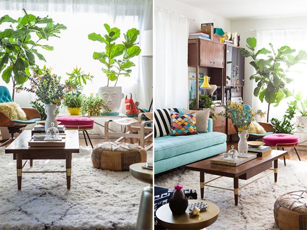 Ideas frescas para decorar con plantas vivados for Plants in living room ideas