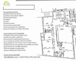 Piso de 5 habitaciones en Tres Cruces, Ensanche Zamora