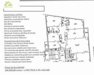 Piso de 4 habitaciones en Tres Cruces, Ensanche Zamora